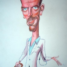 Caricaturas de famosos: Hugh Laurie, House