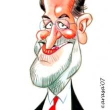 Caricatura de Mariano Rajoy