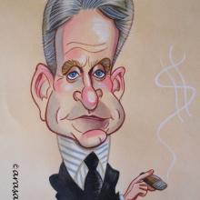 Caricatura de Michael Douglas
