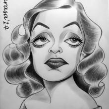 Caricatura de Bette Davis
