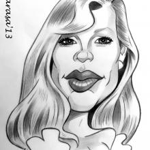 Caricatura de Kim Basinger