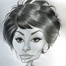 Caricatura de Sofia (Sophia) Loren