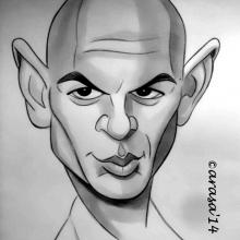 Caricatura de Yul Brynner