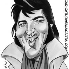 Caricaturas de famosos: Elvis Presley 2