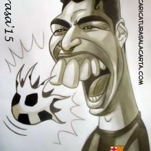 Caricaturas de famosos: Luis Suárez (blog)