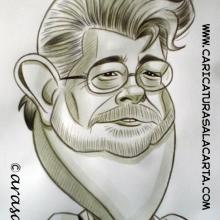 Caricatura de George Lucas
