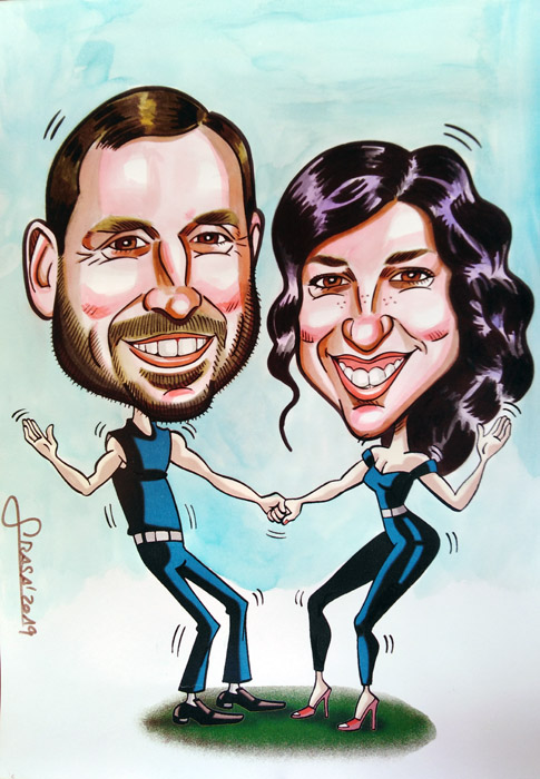 Caricaturas personalizadas de cine online para clientes particulares