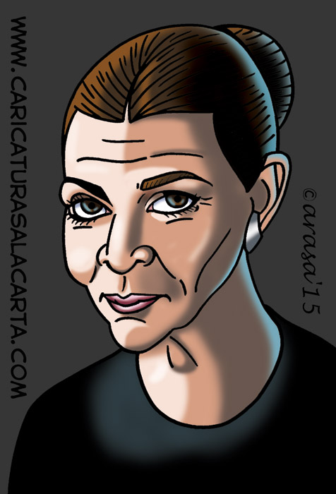 Caricatura digital del personaje de la nueva entrega de Star Wars interpretado por Carrie Fisher
