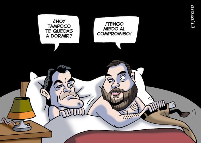 Artur Mas, Oriol Junqueras en caricatura
