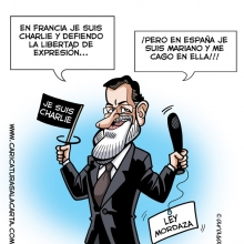 Charlie Hebdo, caricatura digital