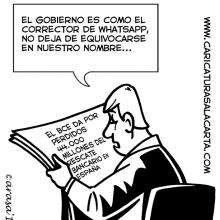 Caricaturas sobre rescate bancario