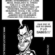 Humor gráfico sobre Rajoy y Cospedal