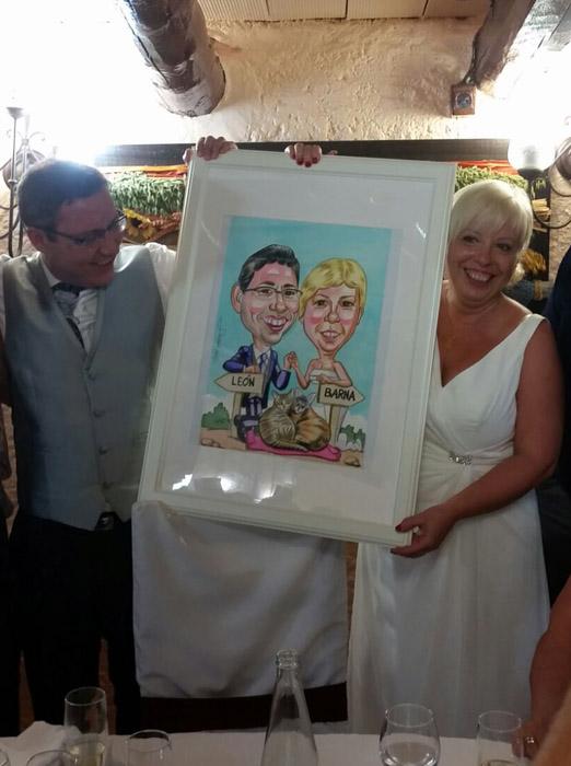Caricaturas personalizadas para bodas