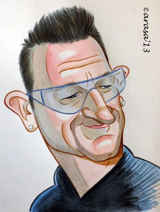 Caricatura de Bono de U2