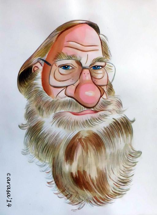 Caricatura de Fernando Fernan Gomez