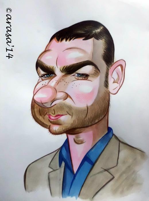 Caricatura de Liev Schreiber