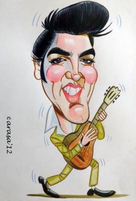 Caricatura rápida de Elvis Presley