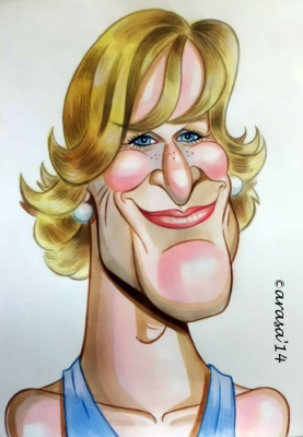 Caricatura de Glenn Close