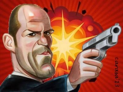 Caricatura rápida de Jason Statham