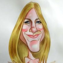 Caricatura de Jennifer Aniston