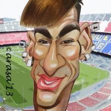 Caricaturas de famosos: Neymar (blog)