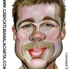 Caricaturas de famosos: Brad Pitt (blog)