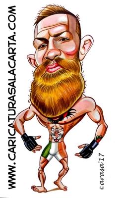 Caricaturas de famosos deportistas: Conor McGregor