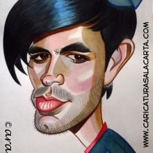 Caricatura rápida de Enrique Iglesias