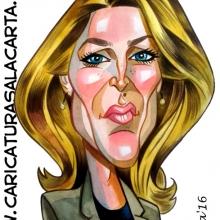 Caricaturas de famosos: Gillian Anderson, Scully en Expediente X