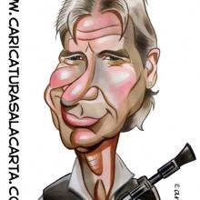 Caricaturas de famosos: Harrison Ford