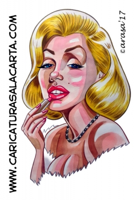 Caricaturas de famosas actrices: Marilyn Monroe