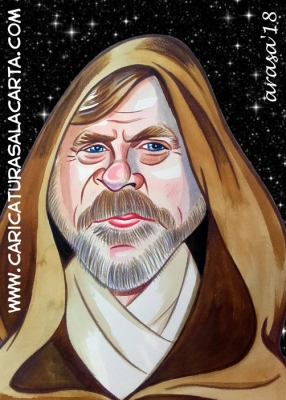 Caricaturas de famosos actores: Mark Hamill (Star Wars)