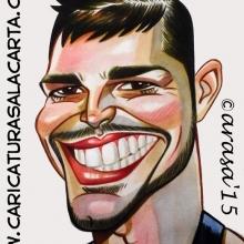 Caricaturas de famosos: Ricky Martin