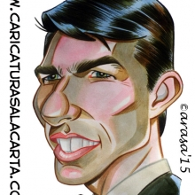 Caricaturas de famosos: Tom Cruise
