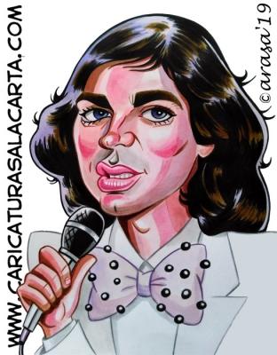 Caricaturas de famosos cantantes: Camilo Sesto, recientemente fallecido. Visita mi blog
