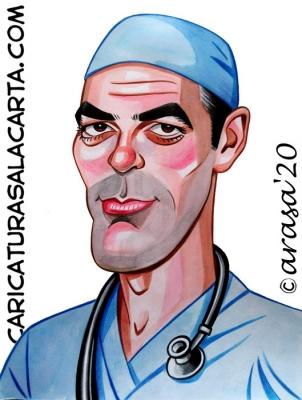 Caricaturas famosos George Clooney homenaje Coronavirus blog