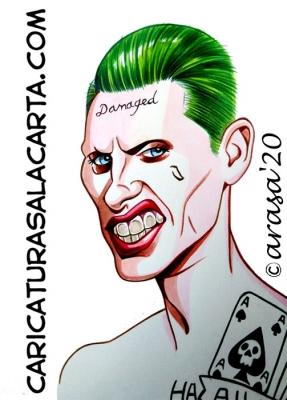 Caricaturas Famosos Jared Leto Joker