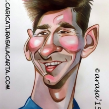 Caricaturas de futbolistas: Leo Messi