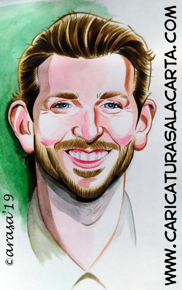 Retrato/ilustración del actor Bradley Cooper a raiz de su posible romance con Lady Gaga