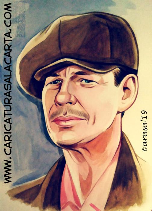 Retrato/ilustración del actor Charles Bronson