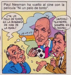 "Caricaturas de famosos: Johan Cruyff y Núñez en ""Mortadelo"""