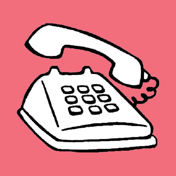 Teléfono de contacto caricaturas
