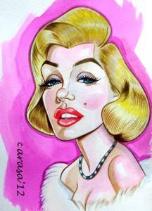 Caricaturas de famosos: Marilyn Monroe