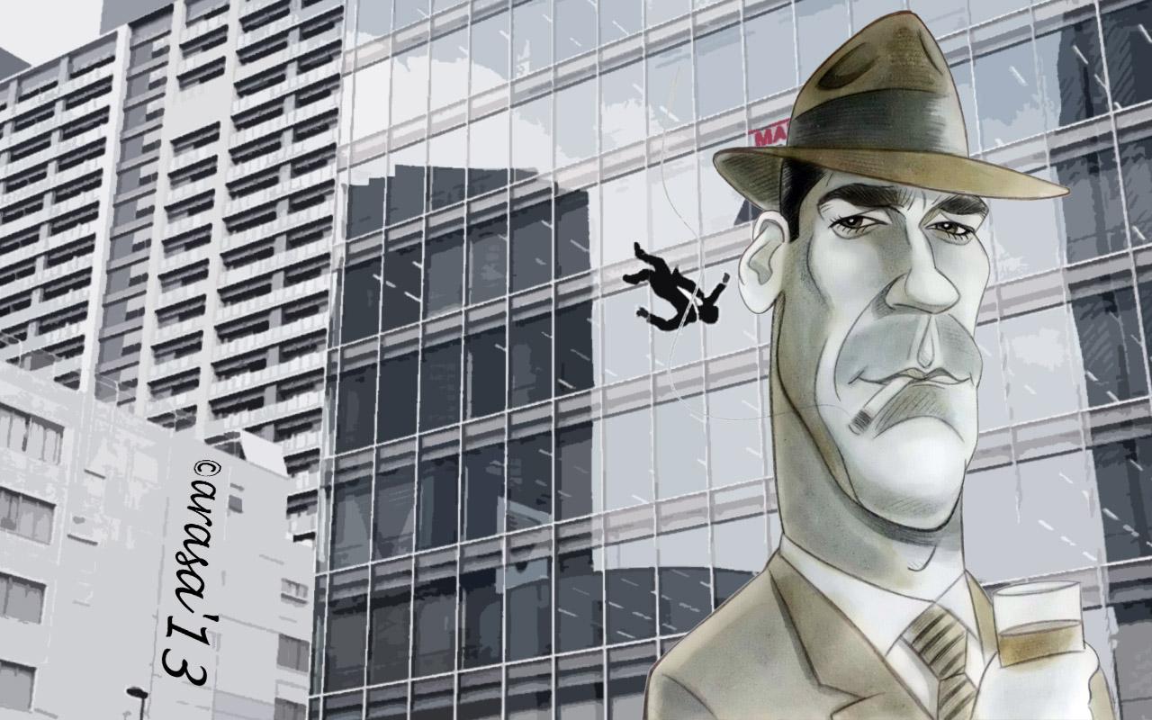Wallpapers con caricaturas de famosos: Jon Hamm Mad Men