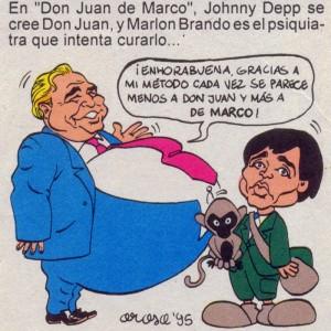 Caricaturas de famosos: Johnny Depp, digital