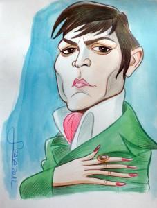 Caricaturas de famosos:  Johnny Depp