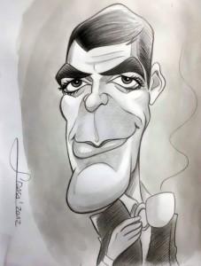 Caricatura de George Clooney,