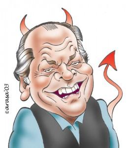 Caricaturas de famosos: Jack Nicholson, digital
