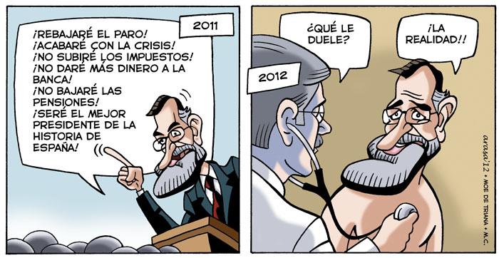 Rajoy va al médico