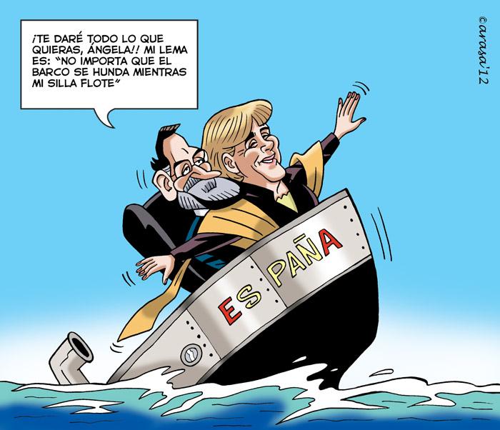 Rajoy, Merkel y el Titánic